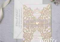wholesale laser cut wedding invites Paper Lace Wedding Invitations