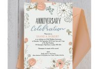wild flowers 25th silver wedding anniversary invitation 25th Silver Wedding Anniversary Invitations