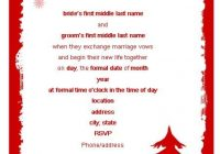 wording for wedding invitations christmas party invitation Christmas Wedding Invitation Wording