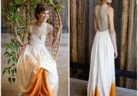 you need to take a look at this beautiful dip dye wedding Wedding Dress Dyeing Service